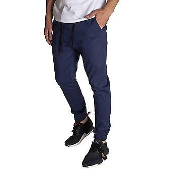 KDNK Men's Jogger Fit Stretch Twill Elastische Taille und Bein Drop Crotch Hose (...