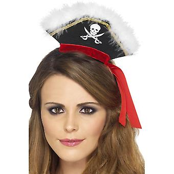 Mock Pirate Hat on Headband, One Size