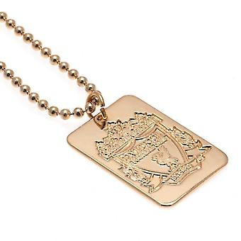 Liverpool FC Gold Plated Dog Tag And Chain