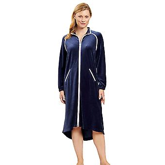 Féraud 3201057-11812 Women's Couture Velvet Morning Dressing Gown