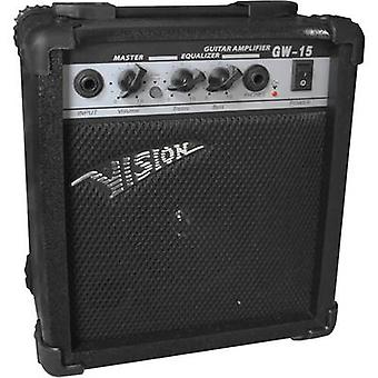 Vision Guitar GW15 elektrisk gitar forsterker svart