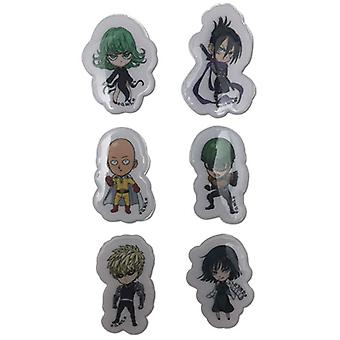 Sticker - One Punch Man - New Puffy SD Character Set Toy Licensed ge55498