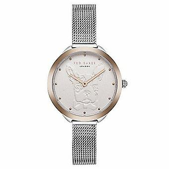 Ted Baker French Bulldog Rose Gold Plated Mesh Stainless Steel Strap Ladies Watch TE15198020 30mm