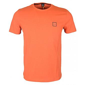 Hugo Boss Tales Cotton Plain Orange T-shirt
