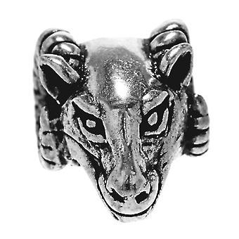 Beard bead widderkopf - silver