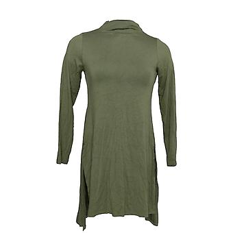 Lisa Rinna Collectie Dames's Top Long Sleeve Knit Tunic Green A372096