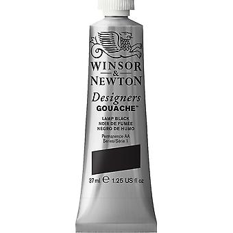 Winsor & Newton Designers Gouache 37ml (Lamp Black)