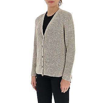 Gentry Portofino D704gtg0444 Women's Beige Cotton Cardigan