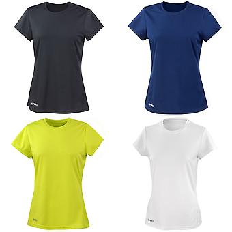 Spiro Womens/Ladies Sports Quick-Dry Short Sleeve Performance T-Shirt
