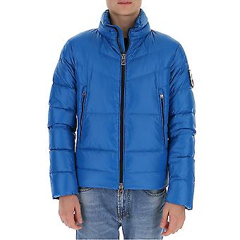 After Label Al023750 Men's Light Blue Polyester Down Jacket