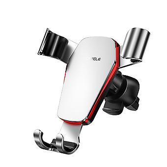 Cafele metallo gravità in metallo funzionamento azionatore auto ad aria supporto auto supporto 360 gradi di rotazione per 4.0-6.5 pollici smart phone