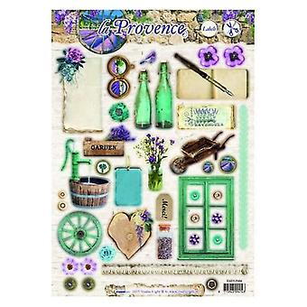 Studio Light Easy 3D Die cut sheet A4 La Provence nr 484 EASYSLP484