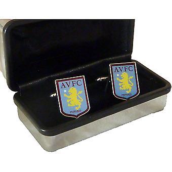 Aston Villa FC Crest Cufflinks - Officially Licensed - AVFC Football Club