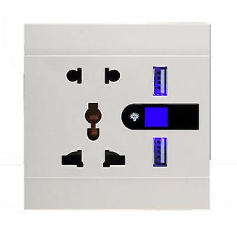 I LumoS White Multi Plug Socket & USB Phone Charger Single Wall Socket & LED Light