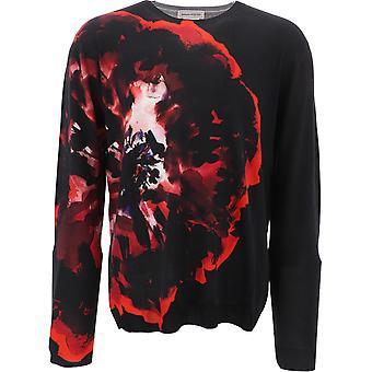 Alexander Mcqueen 610654q1alx1045 Mænd's Black Wool Sweater
