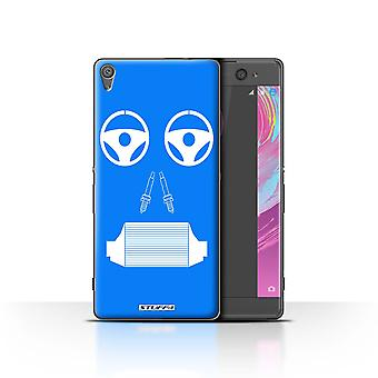STUFF4 Case/Cover for Sony Xperia XA/Radiator/Blue/Car Part Faces