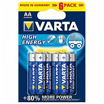 Alkaline Battery Varta 4906 AA 1,5 V AA High Energy (6 pcs) Blue