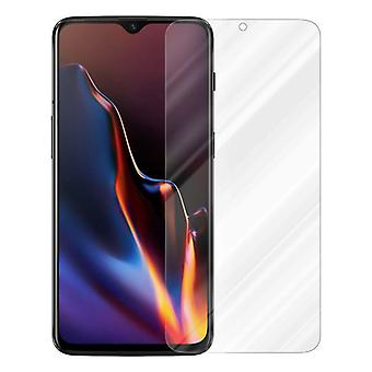 Cadorabo Tank Foil for OnePlus 6T - Protective Film in KRISTALL KLAR - Tempered Display Protective Glass in 9H Hardness with 3D Touch Compatibility