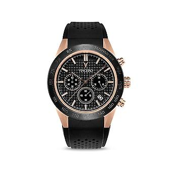 Vincero Watches Rg-bla-x06 The Rogue Black & Rose Gold Silicone Mens Watch