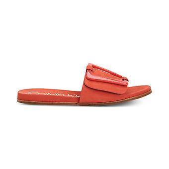 Calvin Klein naisten Patreece nahka avoin toe rento Slide sandaalit