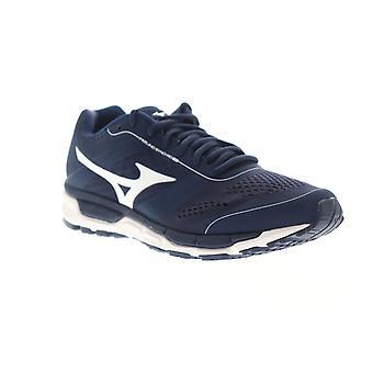 Mizuno Synchro MX mens blauw canvas lage top atletische sportschool cross training schoenen