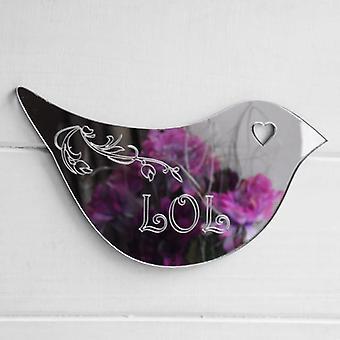 Floral Dove Acrylic Mirror Door or Wall Sign - LOL