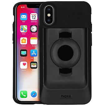 Fitclic Neo Semi-rigid Case iPhone X / XS Magnetic and Mechanical-Tigra, Black