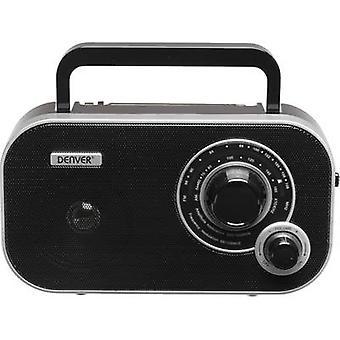 Denver TR-54 Hordozható rádió FM AUX Fekete