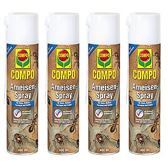 Sparset: 4 x COMPO Ants Spray, 400 ml