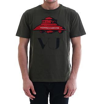 Valentino Sv0mg03x5qpej4 Men's Green Cotton T-shirt