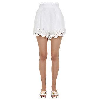 Zimmermann 8390abtdivo Women's White Linen Shorts
