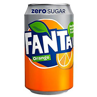 24 x Może Fanta Orange Zero Sugar Drink Low Calories Fizzy Sparkling Fruit Mixer