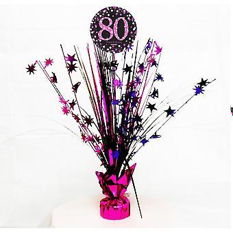 Amscan Sparkling Pink Celebration 80th Birthday Centrepiece Spray