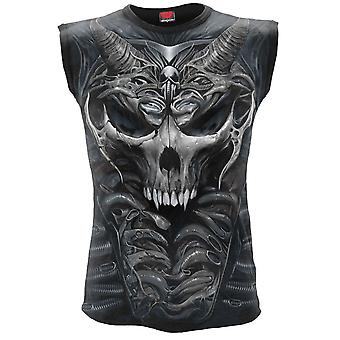 Spiral - skull armour - allover print sleeveless muscle top