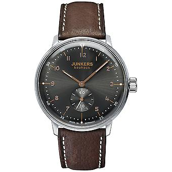Junkers Bauhaus Hand-Wound Mechanical Analog Men's Watch with Cowskin Bracelet 6030-2