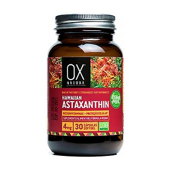 Natural Hawaiian Astaxanthin 30 capsules of 40mg