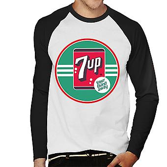 7up 40s Logo Your Thirst Away Men 's Baseball Long Sleeved T-Shirt