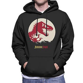 Jurassic Park rood silhouet mannen ' s Hooded Sweatshirt