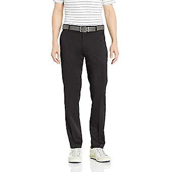 Essentials Men's Slim-Fit Stretch Golf Pant, Black, 33W x 34L