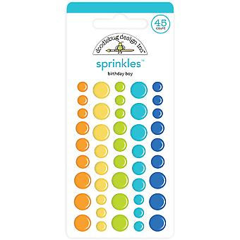 Doodlebug Design Birthday Boy Assortment Sprinkles (45pcs) (6624)