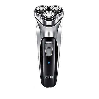 3d Type C Usb Rechargeable Electric Shaver 3 Blades Portable Beard Trimmer