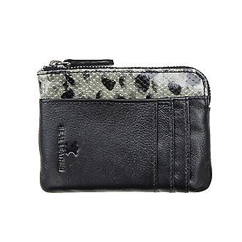 Primehide Womens Mini Coin Purse RFID Blocking Leather Change Pouch Ladies 5554