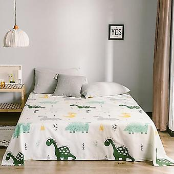 Cozy Breathable Cotton Flat Bed Sheet Mattress Protective Cover Fashion Printing Soft Comfortable Bed Linen