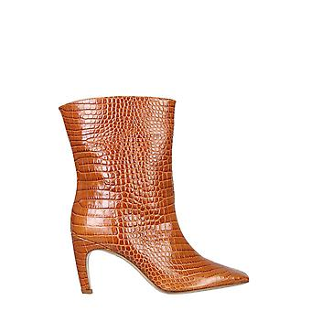Gia Couture Atena12a4 Women's Brown Leather Ankle Boots