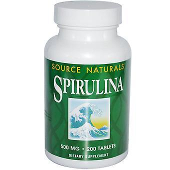Source Naturals, Spiruline, 500 mg, 200 comprimés