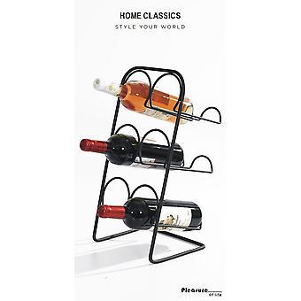Wine rack Black forging 6 bottles