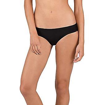 Volcom Frauen's einfach solide freche Badeanzug Bikini Unten, schwarz, Medium