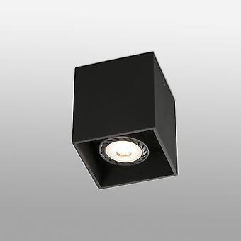 Faro Tecto - 1 Licht Quadrat Oberfläche montiert Downlight Schwarz, GU10