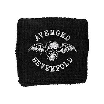 Avenged Sevenfold Death Bat logo-ul trupei New Official negru Cotton Sweatband