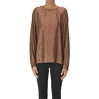 -apos;S Max Mara Ezgl137130 Femmes-apos;blouse en soie léopard